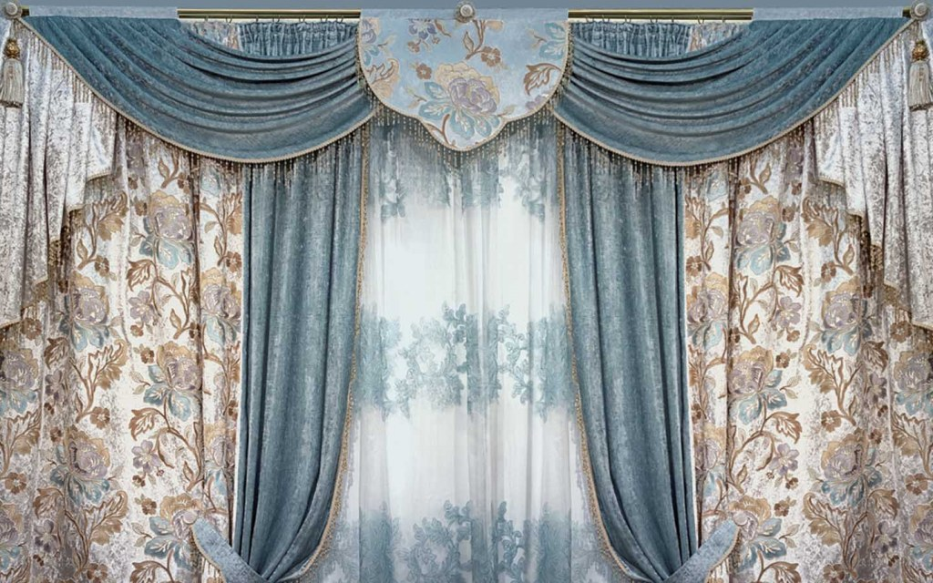 Jacquard is one of the most popular curtain fabrics