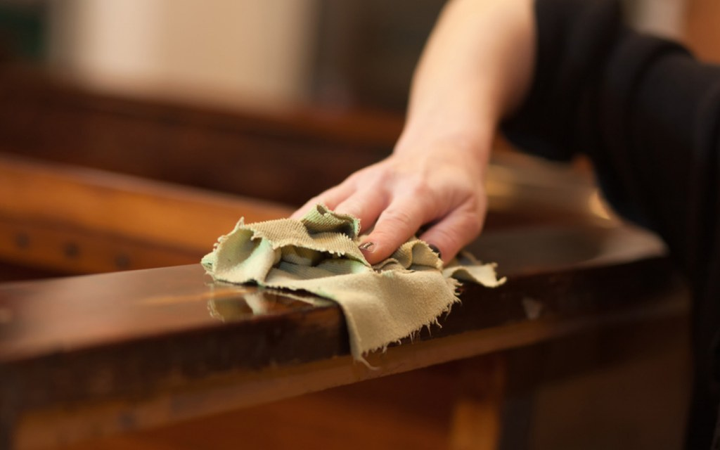 cleaning wooden furniture at home
